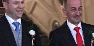 Stefano Simonelli e Luca Trentini, ex leader nazionale di Arcigay, si sono sposati - foto da Facebook