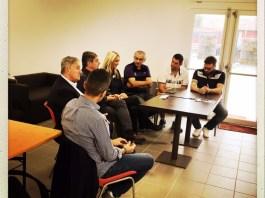 La conferenza di presentazione della partnership tra Rugby Brescia e Issoire