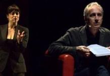 Marco Travaglio e Valentina Lodovini a teatro