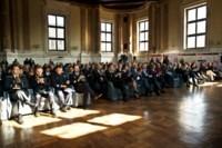 La conferenza stampa di presentazione della Mille Miglia 2018 al salone Vanvitelliano di Palazzo Loggia, www.bsnews.it