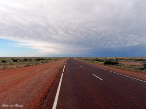 """16. """"Quasi tutte le strade australiane sono a due corsie, e questo fa una bella differenza. Non vi trovate tagliati fuori dal mondo più vasto, come quando siete in autostrada, ma sentite piuttosto di farne parte, di esserne intimamente connessi. Tutti i milioni di dettagli del paesaggio sono di fianco a voi, vicini, non confusi in qualche sfondo lontano, noiosamente epico. La vostra prospettiva cambia in modo radicale. Non ha quindi alcun senso accelerare, meglio, anzi, rallentare e godersi lo scenario. Così non c'è nulla di quella folle urgenza senza scopo che rende ogni tragitto in autostrada una faccenda gravosa e insoddisfacente."""" Bill Bryson – In un paese bruciato dal sole - Un salto in Australia, mostra fotografica di un viaggio on the road dei bresciani Patrizia Pietropaolo e Matteo Beschi"""