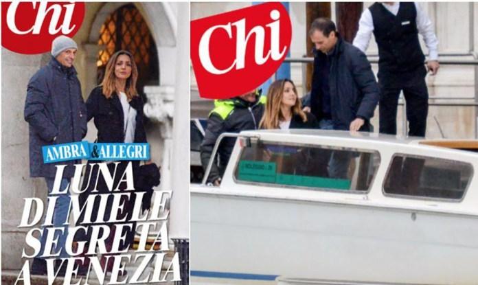 Ambra e Allegri a Venezia sulla copertina del settimanale Chi