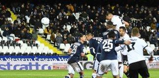 Un'azione di Brescia-Cesena, foto da sito ufficiale del Brescia Calcio