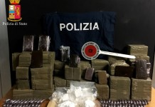 La droga sequestrata a Ospitaletto