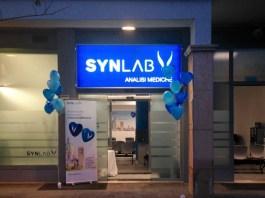 L'ingresso del nuovo punto prelievi Synlab di via Marconi a Brescia
