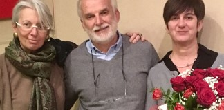 Damiano Galletti con Silvia Spera, Cgil Brescia