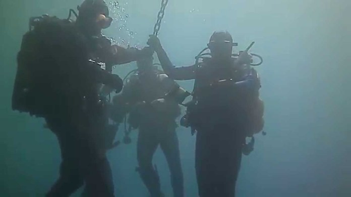 Sub nel lago di Garda, foto d'archivio