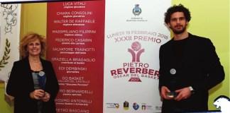 Graziella Bragaglio e Luca Vitali dopo aver ricevuto il premio - foto da ufficio stampa