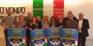 I candidati di Fratelli d'Italia Brescia in corsa per Parlamento e Regione, foto Andrea Tortelli