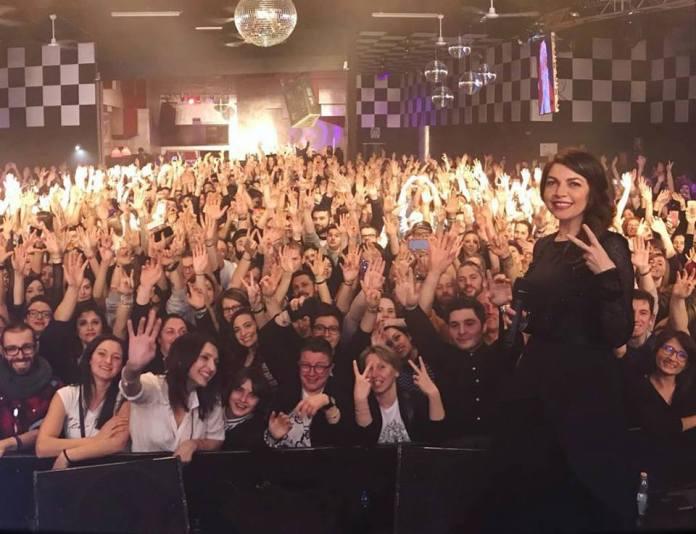 Cristina D'Avena al termine del concerto al Latte+ di Brescia, foto da Facebook