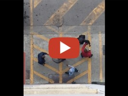 Un frame di un video che documenta l'ennesimo episodio di violenza alla Stazione di Brescia, da Facebook