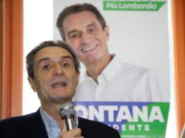 Il presidente della Lombardia Attilio Fontana