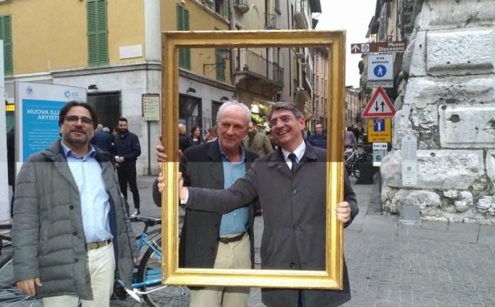 Massimo Minini ed Emilio Del Bono, foto Andrea Tortelli per BsNews.it