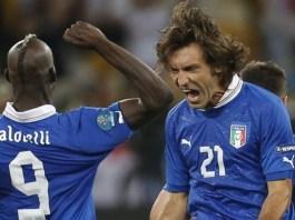Balotelli e Pirlo ai tempi della Nazionale
