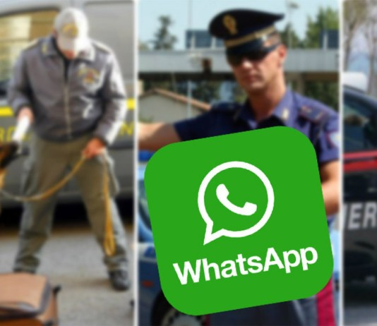 Attività illecite via Whatsapp