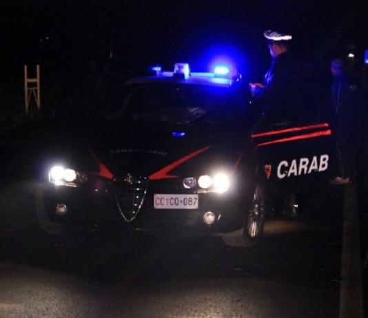 Carabinieri in azione nella notte, foto generica