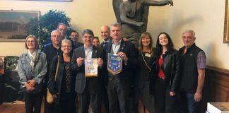 I rotariani americani in gita a Brescia durante l'incontro col sindaco