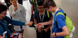 Studenti del Leonardo alle premiazioni, foto ufficio stampa