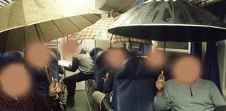 Pioggia nel treno, foto generica