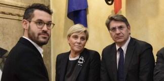 Da sinistra: Fabrizio Benzoni, Laura Castelletti ed Emilio Del Bono, foto da Facebook