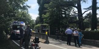 La foto del luogo dell'incidente, scattata da OkMugello, testata partner di BsNews