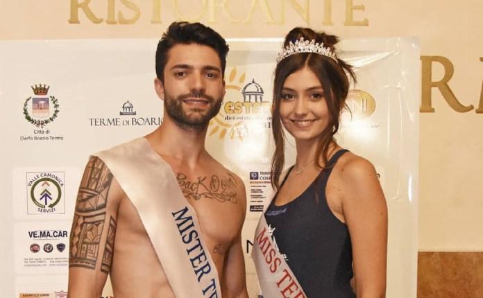 Maurizio Zamboni, 26enne di Montichiari, e Nicole Amighetti, 19enne di Verolanuova, sono i vincitori del concorso di bellezza Miss e Mister Terme di Boario 2018