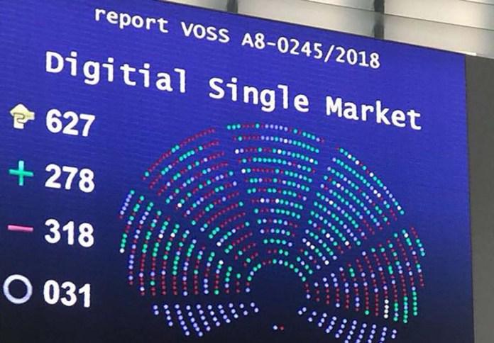 Il risultato del voto sulla cosiddetta legge ammazza-web al Parlamento europeo