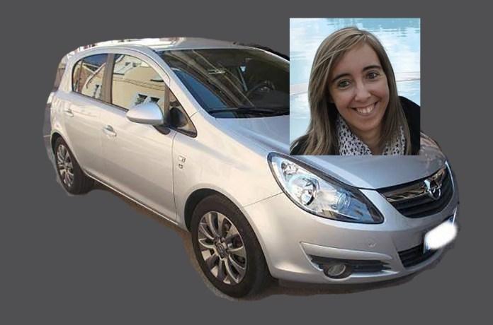 Un'auto simile a quella con cui è scomparsa Manuela Bailo