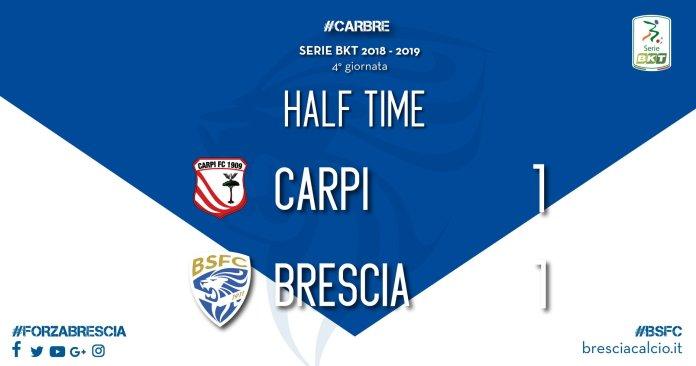Bresciaa Carpi: 1-1