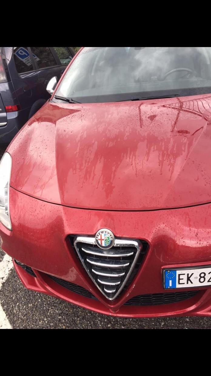 L'Alfa Romeo Giulia rubata in via Mantova