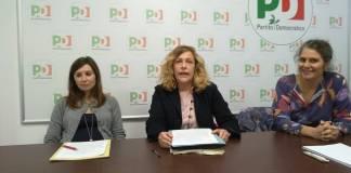 La conferenza di presentazione della candidatura di Patrizia Avanzini alla segreteria del Pd di Brescia