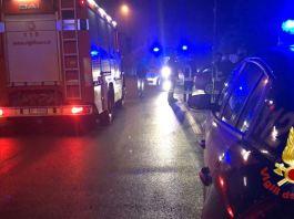 Vigili del fuoco di Brescia in azione