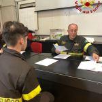 Un momento del corso di formazione per aspiranti vigili del fuoco volontari