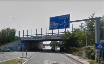 Il cavalcavia di via Volta, Brescia - foto da Google Maps
