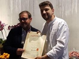 Alberto Gippone, chef franciacortino, premiato a Milano da GourmArte