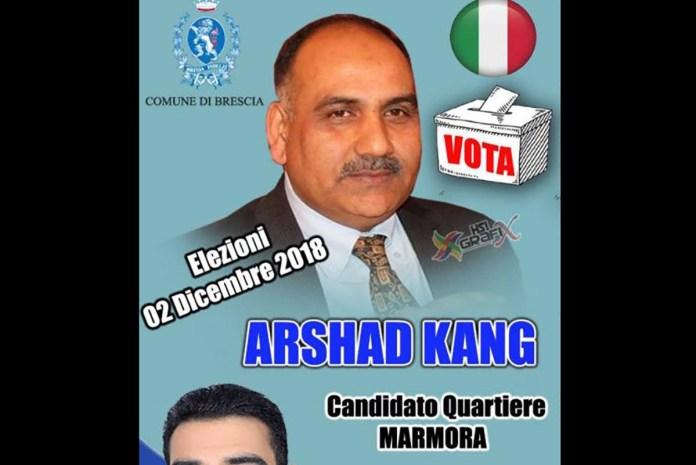 Arshad Kang, candidato al consiglio di circoscrizione di Lamarmora a Brescia