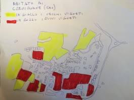 La cartina dei vigneti a Cremignane di Iseo