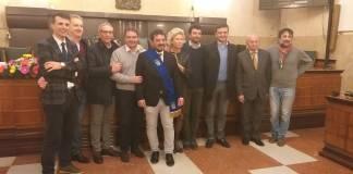 La squadra di governo del nuovo presidente della Provincia di Brescia Samuele Alghisi