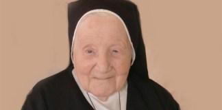 Suor Maria Fedele, scomparsa a 110 anni