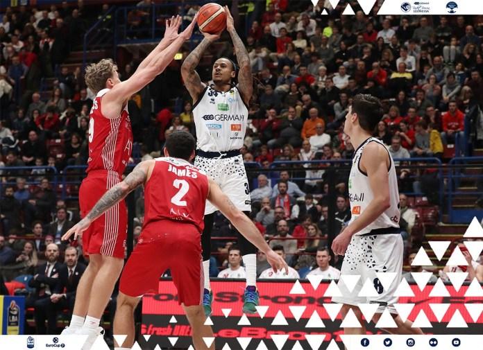 Moss al tiro contro Milano - foto da © Basket Brescia Leonessa