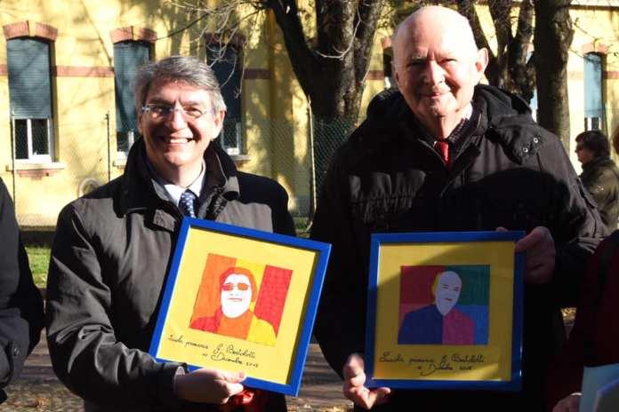 Il sindaco di Brescia Emilio Del Bono con Antonio Bonomo, foto da pagina Facebook del sindaco