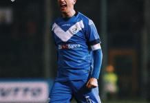 Gastaldello firma il successo ai danni del Lecce - foto da profilo Facebook Brescia Calcio