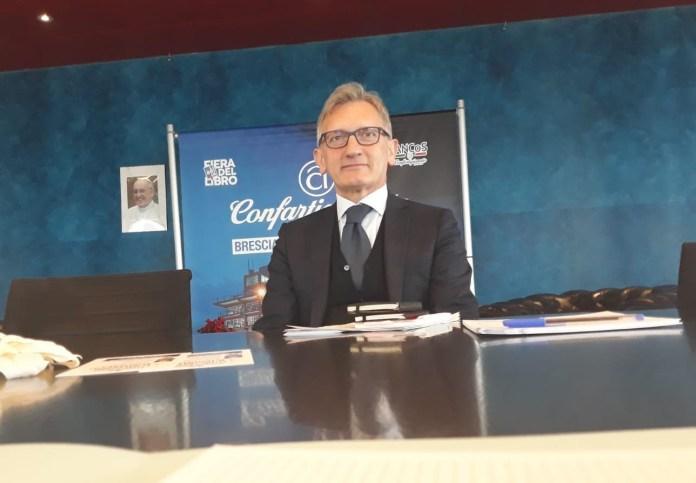 Il presidente di Confargianato Eugenio Massetti, foto Andrea Tortelli (BsNews)