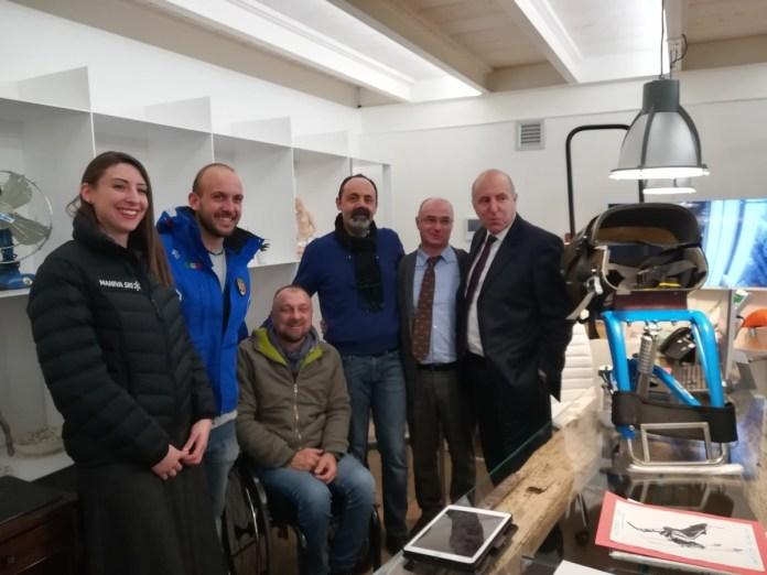 In foto: Elena Contrini, Cesare Ronchini, Nicola Alberti, Mario Gaburri e Valter Muchetti