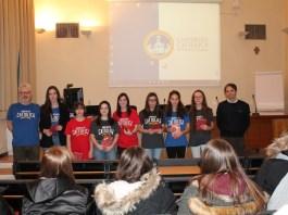 Le vincitrici del concorso di matematica dell'università Cattolica, foto da Ufficio stampa