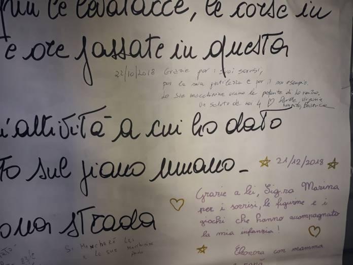 Il messaggio dell'edicolante di Corso Cavour, foto BsNews