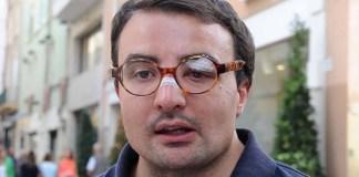 Paolo Sabbadini nella foto che postò su Fcebook subito dopo l'aggressione