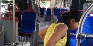 L'interno di un bus, foto generica