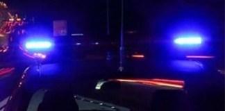 Lampeggianti delle forze dell'ordine, foto generica