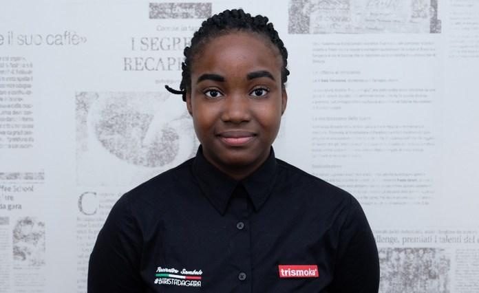 Raciratou Sambale, vincintrice del concorso Trismoka per il miglior caffè